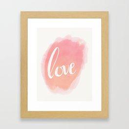 Pretty Love Print With Arrows Framed Art Print