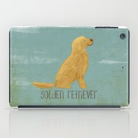 golden retriever iPad Cases featuring Golden Retriever by 52 Dogs