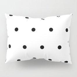 Black and white Polka Dots Pattern Pillow Sham