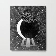 Waning Crescent Metal Print