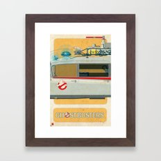 Ecto-1 from Ghostbusters part II of III Framed Art Print