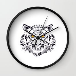 White tiger in danger by #Bizzartino Wall Clock