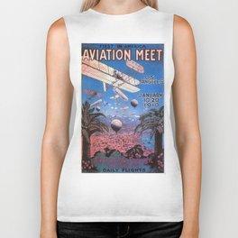 Vintage poster - Aviation Meet Biker Tank