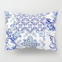 Azulejo VIII - Portuguese hand painted tiles Pillow Sham