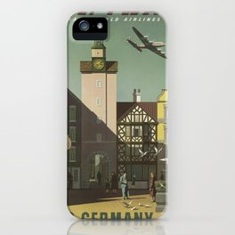 Vintage poster - Germany iPhone Case