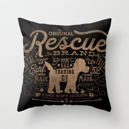 RESCUE DOG TRADING COMPANY ART Throw Pillow