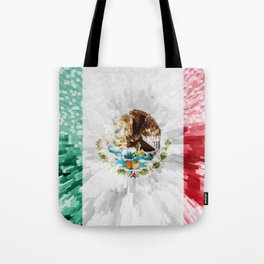 Extruded Flag of Mexico Tote Bag