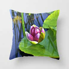 Summery Ode to the WATER LILY  Throw Pillow
