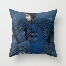 December Park (1) Throw Pillow
