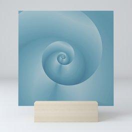 Blue Spiral: digital art Mini Art Print
