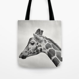 giraffe black white Tote Bag
