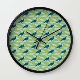 Californian Quail and home-grown sage Wall Clock