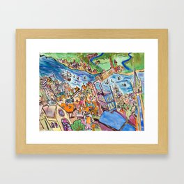 Medieval City Framed Art Print