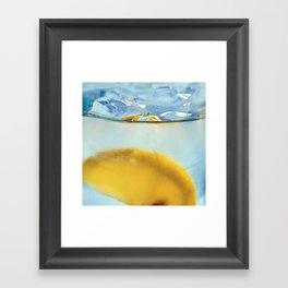Refreshing Lemon Drink Framed Art Print