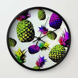 colorful pineapple pattren Wall Clock