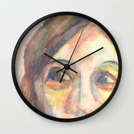 Moody Lady: Looking Up Wall Clock