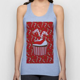 Holiday Candy Cane Cupcake Unisex Tank Top