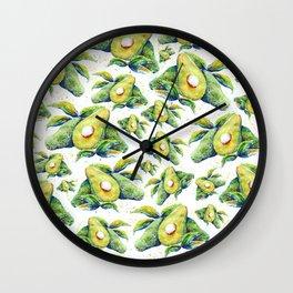 Avocados - Watercolor Wall Clock