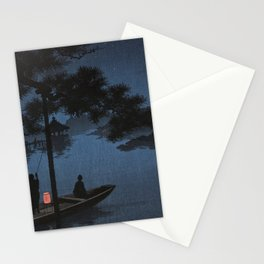 Boat with Lantern Beneath Shubi Pine Stationery Cards