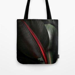 Ficus Elastica with black Tote Bag