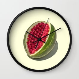 Watermelon Roses Wall Clock