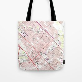 Vintage Map of San Fernando California (1966) Tote Bag
