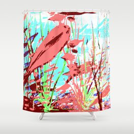 Pink Fish Shower Curtain