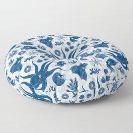Cephalopods: Grunge Floor Pillow