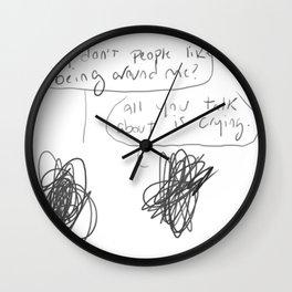 scribbles Wall Clock