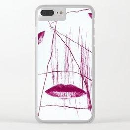 Five Senses II - let lips start greediness Clear iPhone Case