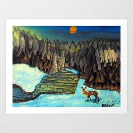 Tranquil Deer Art Print