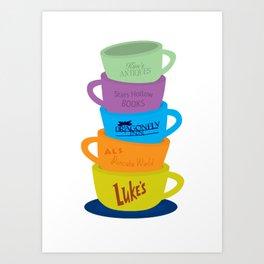Stars Hollow Mugs Art Print