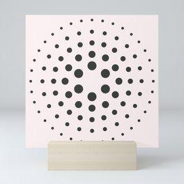 Mid-Century Modern Art - Bubblegum Spiral Dots Mini Art Print