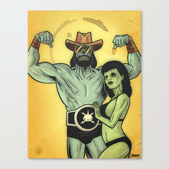 Deadman Savage & Deadie Page Canvas Print
