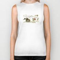 sparrow Biker Tanks featuring Sparrow by Alice Flynn