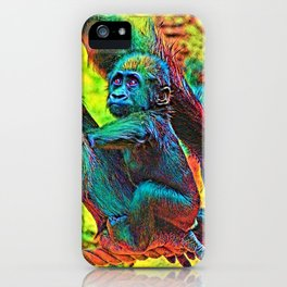 AnimalColor_Gorilla_005_by_JAMColors iPhone Case