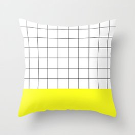 Scandi Grid Sq Y Throw Pillow