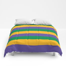 Mardi Gras Rugby Stripe Comforters