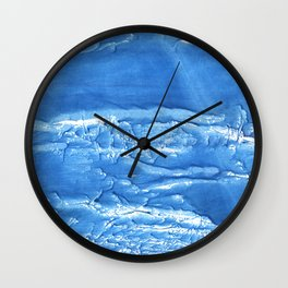 Corn flower blue abstract watercolor painting Wall Clock