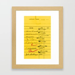Library Card 23322 Yellow Framed Art Print