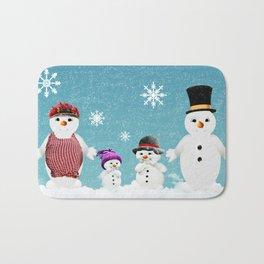Christmas Snow Family Bath Mat
