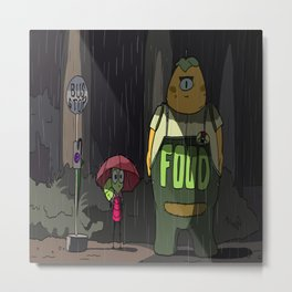 my neighbor monster Metal Print