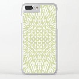 warped bandanna. pale sage Clear iPhone Case