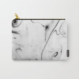 Elegant white marble image Carry-All Pouch