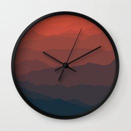 Ombré Range No. 2 Wall Clock