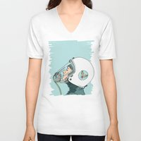 pilot V-neck T-shirts featuring Pilot by Jason Ratliff