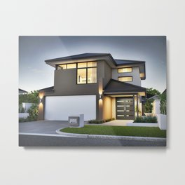 small-lot-house-plans-beautiful-house-plan-narrow-lot-homes-two-storey-small-unfor-table-triumph-of- Metal Print
