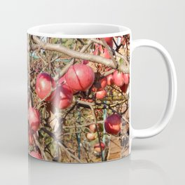 Planting young tree seedlings in autumn in the garden Coffee Mug