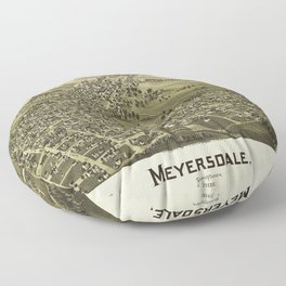 Aerial View of Meyersdale, Pennsylvania (1900) Floor Pillow