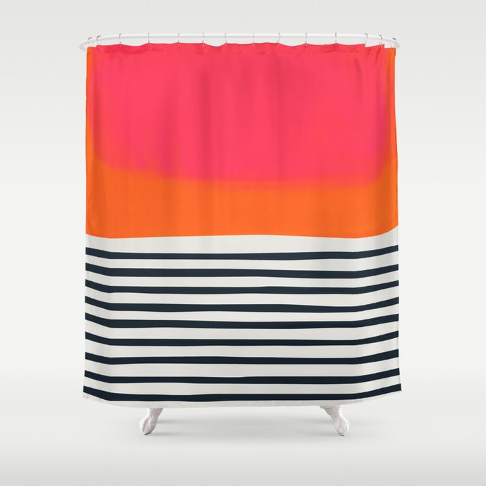 Sunset Ripples Shower Curtain